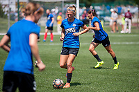 Kansas City, MO - Wednesday August 16, 2017: Katie Bowen during a regular season National Women's Soccer League (NWSL) match between FC Kansas City and the Orlando Pride at Children's Mercy Victory Field.