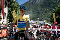 Jakob Fuglsang (DEN/Astana) will have to defend his yellow jersey today<br /> <br /> Stage 8: Cluses (FRA) to Champéry (SUI)(113km)<br /> 71st Critérium du Dauphiné 2019 (2.UWT)<br /> <br /> ©kramon