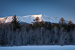 Snow-capped Mt Katahdin in Baxter State Park, ME, USA