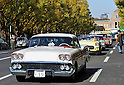 November 27, 2011, Tokyo, Japan - A 1958 Chevy Impala leads a 1955 Corvette during the fifth Classic Car Festa 2011 in Tokyo on Sunday, November 27, 2011. Some 43,000 spectators watch about 100 domestic and foreign classic and vintage cars parade the gingko-lined streets of the Meiji Shrines Outer Garden in the annual open-air exhibition and parade sponsored by Toyota Automobile Museum. (Photo by Natsuki Sakai/AFLO) [3615] -mis-
