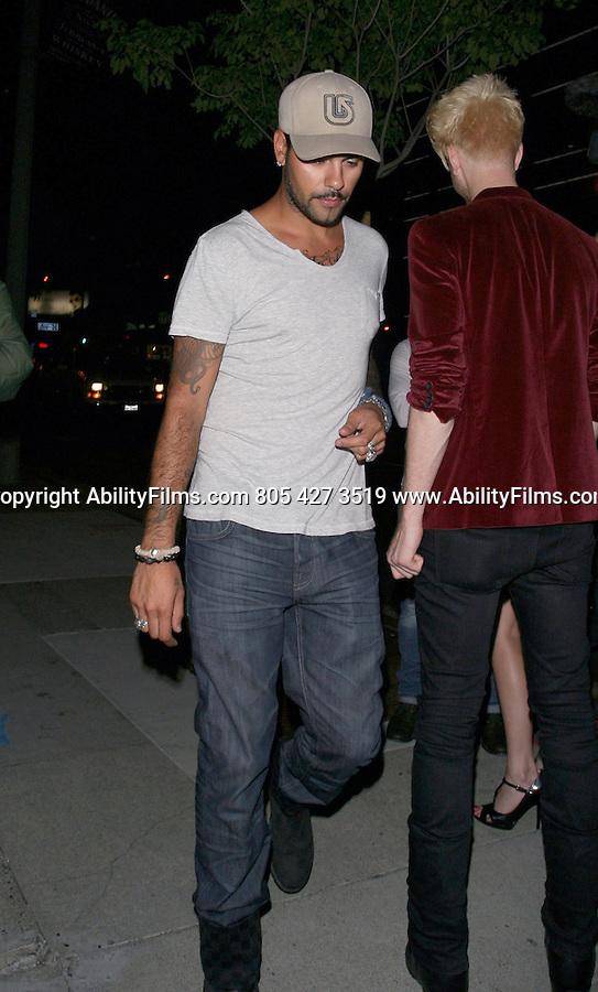 June 29th   2012 Eduardo Cruz leaving Bootsy Bellows club in West Hollywood.www.AbilityFilms.com 805 427 3519 www.AbilityFilms.com
