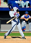 6 March 2010: New York Mets' catcher Mike Nickeas in action during a Spring Training game against the Washington Nationals at Space Coast Stadium in Viera, Florida. The Mets defeated the Nationals 14-6 in Grapefruit League action. Mandatory Credit: Ed Wolfstein Photo