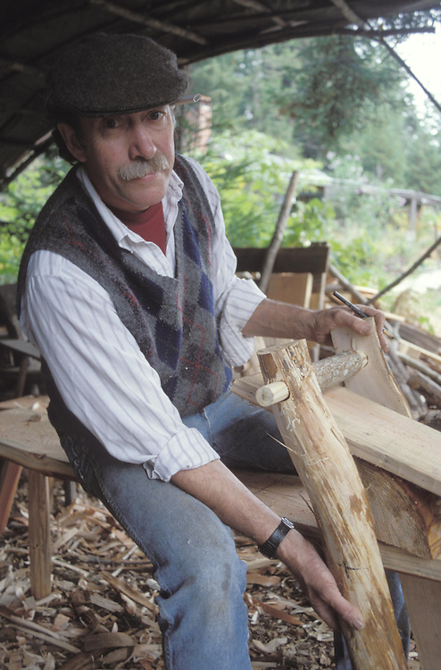 Don Webber a well known early artisan, Mendocino California