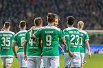 08.03.2019, Weser Stadion, Bremen, GER, 1.FBL, Werder Bremen vs FC Schalke 04, <br /> <br /> DFL REGULATIONS PROHIBIT ANY USE OF PHOTOGRAPHS AS IMAGE SEQUENCES AND/OR QUASI-VIDEO.<br /> <br />  im Bild<br /> <br /> Jubel Martin Harnik (Werder Bremen #09) Tor 4:2 Fin Bartels (Werder Bremen #22) Kevin M&ouml;hwald / Moehwald (Werder Bremen #06)<br /> Niklas Moisander (Werder Bremen #18)<br /> Foto &copy; nordphoto / Kokenge