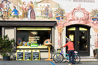 Artisan food shop selling bread and cheese in the village of Oberammergau in Bavaria, Germany