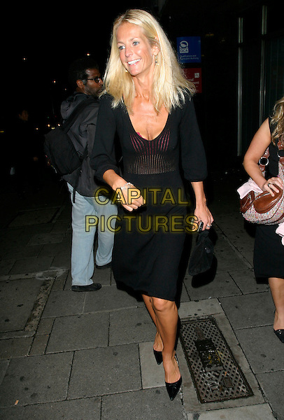 ULRIKA JONSON.Arriving at Closer Magazine's 4th Birthday Party,.Pangea, London, England, September 25th 2006..full length black sheer see through thru dress chest cleavage pink bra .Ref: AH.www.capitalpictures.com.sales@capitalpictures.com.©Adam Houghton/Capital Pictures.