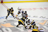 May 31, 2017: NHL referee Dan O'Halloran (13) drops the puck between Pittsburgh Penguins center Sidney Crosby (87) and Nashville Predators center Mike Fisher (12) for the start of game two of the National Hockey League Stanley Cup Finals between the Nashville Predators  and the Pittsburgh Penguins, held at PPG Paints Arena, in Pittsburgh, PA. The Penguins defeat the Predators 4-1 and lead the series 2-0. Eric Canha/CSM