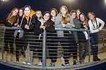 Costa Mesa, CA 02/20/16 - Members of the Foothill High School girl's lacrosse team arrive early for the Duke vs USC game at Orange Coast College.