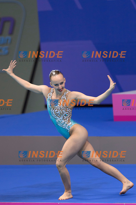 Margot DE GRAAF NED Netherlands <br /> Solo Free Final <br /> London, Queen Elizabeth II Olympic Park Pool <br /> LEN 2016 European Aquatics Elite Championships <br /> Synchronized Swimming <br /> Day 02 10-05-2016<br /> Photo Andrea Staccioli/Deepbluemedia/Insidefoto