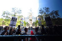 New York, USA. 1st May 2014.  People march during the annual 1 May day rally in New York.  Eduardo MunozAlvarez/VIEWpress