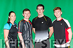 Sinead Galvin Killarney, Fergal Hannon Listowel James Flaherty Moyvane and Cian liston Listowel who competed in the Munster Badminton championships in Killarney on sunday