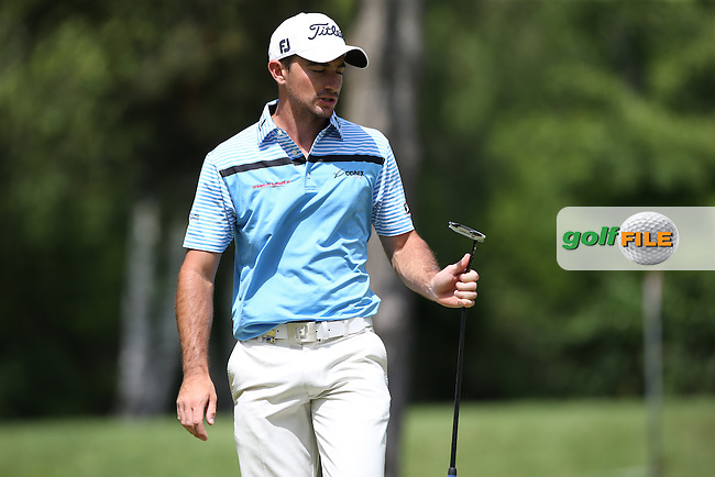 At -11 Gary Stal (FRA) on the 8th green during the Final Round of the 2015 Lyoness Open powered by Greenfinity at the Diamond Country Club, Atzenbrugg, Vienna, Austria. 14/06/2015. Picture: Golffile | David Lloyd<br /> <br /> All photos usage must carry mandatory copyright credit (&copy; Golffile | David Lloyd)