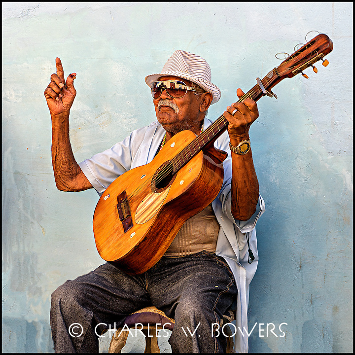 Guitar man street band in Trinidad Cuba at 500 year celebration.<br /> <br /> -Limited edition of 50 prints.