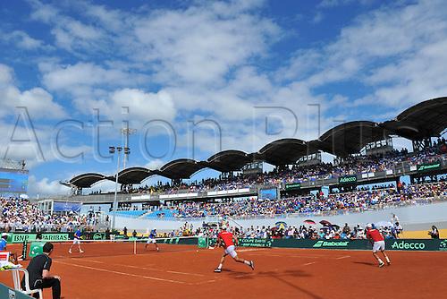05.03.2016. Vélodrome Amédée Detraux, Guadeloupe, France. Davis Cup 1st round. France versus Canada.  The velodrome stadium