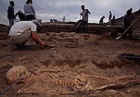 Archaeologists unearth a Bronze Age skeleton on the Black Sea coast.
