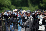 Trooper Eric Keith Chrisman was laid to rest Monday June 29, 2015 in Lawrenceburg, Ky.  Officers from across Kentucky and the Nation came to pay respects to his family.fb  Photo by Mark Mahan
