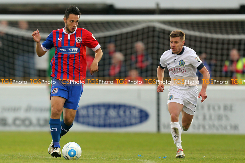 Luke Howell of Dagenham and Jack Mackreth of Macclesfield Town during Dagenham & Redbridge vs Macclesfield Town, Vanarama National League Football at the Chigwell Construction Stadium on 22nd October 2016