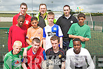 Pictured at the Garda Multi-Cultural Soccer soccer League at Mounthawk Tralee on Monday, Front from Left Ryan Sheehy, Kieran O'Regan, Daragh Connor and Max Mugabe..Back from left Tobi Pop, Garda Pat Naughton, Nelly Hircko, Garda Dave Rath, Eamon Williams, Garda Nigel Hennessy and Alex Lebroni.