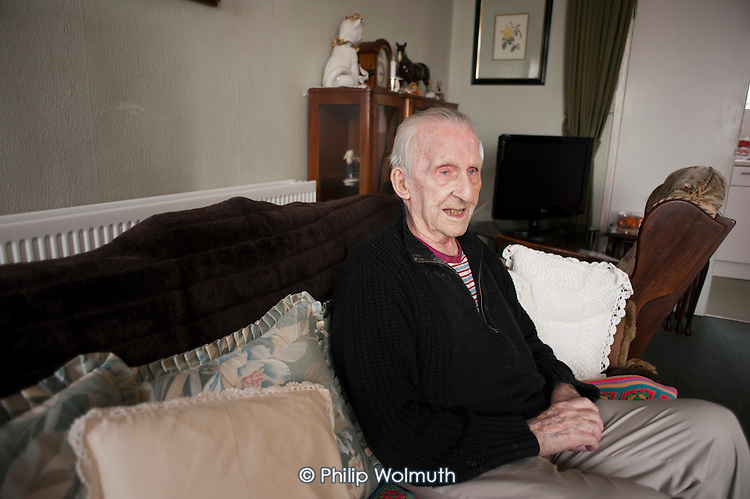 George Phillips (94) has lived in his flat on the Regents Park Estate in West Euston since it was built in 1955.  His block, Eskdale, will be demolished when work begins on the HS2 high-speed rail line to Birmingham in 2016.