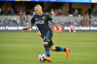 San Jose, CA - Saturday June 09, 2018: Magnus Eriksson during a Major League Soccer (MLS) match between the San Jose Earthquakes and Los Angeles Football Club at Avaya Stadium.