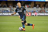 San Jose, CA - Saturday June 09, 2018: Magnus Eriksson during a Major League Soccer (MLS) match between the San Jose Earthquakes and Los Angeles Football Club at Avaya Stadium.