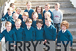 PHOTO CALL: Taking time out for a photo on their first day at Milltown National School on Monday. Front from left, Evan O'Sullivan, Oisin Quirke, Cillian Burke, Patrick O'Sullivan, Kevin Harmon and Christopher Flynn. Middle row from left, Jonathan Cronin, Conor Dawson, Milly Mason, Caoimhe Burke and Aaron M Sweeney. Back from left, Wayne Molloy, Lorcan Daly, Eve MacKessy, Amanda Flynn, Adam Clarke and Liam Madden.