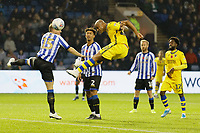 Andre Ayew of Swansea City failes to score with a header during the Sky Bet Championship match between Sheffield Wednesday and Swansea City at Hillsborough Stadium, Sheffield, England, UK. Saturday 09 November 2019