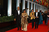 Oprah Winfrey and Stedman Graham arrive at the United States Department of State for a dinner hosted by U.S. Secretary of State Colin Powell celebrating the 2001 Kennedy Center Honorees Van Cliburn, Julie Andrews, Jack Nicholson, Quincy Jones, and Luciano Pavarotti at the U.S. Department of State in Washington, D.C. on Saturday, December 1, 2001.  Arriving behind Ms. Winfrey and Mr. Graham are Sam Waterston and his wife, Lynn..Credit: Ron Sachs / CNP