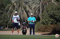 George Coetzee (RSA) and caddie Alan during the Final Round of the 2016 Omega Dubai Desert Classic, played on the Emirates Golf Club, Dubai, United Arab Emirates.  07/02/2016. Picture: Golffile | David Lloyd<br /> <br /> All photos usage must carry mandatory copyright credit (&copy; Golffile | David Lloyd)