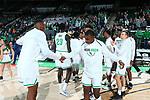 DENTON, TX - JANUARY 23: North Texas Mean Green Men's Basketball v UTSA at Super Pit - North Texas Coliseum on January 23, 2020 in Denton, Texas.