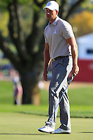 Henrik Stenson (Team Europe) on the 9th green during Saturday afternoon Fourball at the Ryder Cup, Hazeltine National Golf Club, Chaska, Minnesota, USA.  01/10/2016<br /> Picture: Golffile | Fran Caffrey<br /> <br /> <br /> All photo usage must carry mandatory copyright credit (&copy; Golffile | Fran Caffrey)