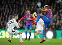Burnley's Johann Gudmundsson battles with Crystal Palace's Patrick van Aanholt<br /> <br /> Photographer Ashley Crowden/CameraSport<br /> <br /> The Premier League - Crystal Palace v Burnley - Saturday 13th January 2018 - Selhurst Park - London<br /> <br /> World Copyright &copy; 2018 CameraSport. All rights reserved. 43 Linden Ave. Countesthorpe. Leicester. England. LE8 5PG - Tel: +44 (0) 116 277 4147 - admin@camerasport.com - www.camerasport.com