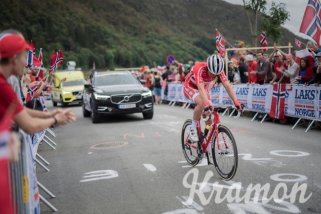 Mads Pedersen (DEN/Trek-Segafredo) up Salmon Hill<br /> <br /> Men Elite Road Race<br /> <br /> UCI 2017 Road World Championships - Bergen/Norway