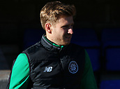 4th November 2017, McDiarmid Park, Perth, Scotland; Scottish Premiership football, St Johnstone versus Celtic; Stuart Armstrong goes through his pre-match warm-uo