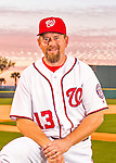 28 February 2016: Washington Nationals Third Base Coach Bob Henley poses for his Spring Training Photo-Day portrait at Space Coast Stadium in Viera, Florida. Mandatory Credit: Ed Wolfstein Photo *** RAW (NEF) Image File Available ***