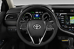 Car pictures of steering wheel view of a 2019 Toyota Camry Premium 4 Door Sedan