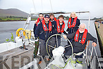 The crew of the Avocet at the start of their round the world trip which will take approximately 16 months, pictured here l-r; Cian Deasy, Brian O'Grady, John O'Shea, Donnacha Desmond(1st Mate), Margaret Ryder & Derry Ryder(Skipper).