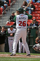 Buffalo Bisons Andy Marte during an International League game at Dunn Tire Park on April 17, 2006 in Buffalo, New York.  (Mike Janes/Four Seam Images)