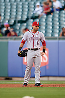 Syracuse Chiefs first baseman Jose Marmolejos (6) during a game against the Buffalo Bisons on July 6, 2018 at Coca-Cola Field in Buffalo, New York.  Buffalo defeated Syracuse 6-4.  (Mike Janes/Four Seam Images)