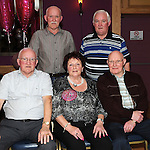 Mary Briscoe celebrating her 70th birthday in The Thatch with her brothers Parsy, Val, Thomas and Larry. Photo: Colin Bell/pressphotos.ie