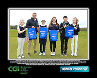 Bandon GC team with Bank of Ireland Official Morgan Whelan and CGI Participation Officer Jennifer Hickey with Junior golfers across Munster practicing their skills at the regional finals of the Dubai Duty Free Irish Open Skills Challenge at the Ballykisteen Golf Club, Limerick Junction, Co. Tipperary. 16/04/2016.<br /> Picture: Golffile | Thos Caffrey<br /> <br /> <br /> <br /> <br /> <br /> All photo usage must carry mandatory copyright credit (© Golffile | Thos Caffrey)