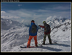 Step back and determine exposure and focus. <br /> Be patient and wait for the right moment and make 3 to 5 quick exposures. Pick the best. Snowboarders atop St Anton Ski Area, Austria.