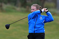 Harriet Lockley (WAL) on the 1st tee during Round 1 of the Irish Girls U18 Open Stroke Play Championship at Roganstown Golf &amp; Country Club, Dublin, Ireland. 05/04/19 <br /> Picture:  Thos Caffrey / www.golffile.ie