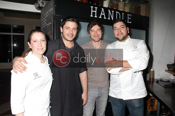 Abbie White, Liran Mezan, Mark Duplass, Robert Liberato<br /> KIA SUPPER SUITE BY STK hosts a cast dinner for films, THE OVERNIGHT, TANGERINE & ANIMALS, Handle Restaurant and Bar, Park City, UT 01-24-15<br /> David Edwards/DailyCeleb.com 818-915-4440