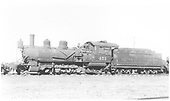 Side view of K-27 #451 at Alamosa scrapping operation.<br /> D&amp;RGW  Alamosa, CO  Taken by Kindig, Richard H. - 7/4/1938