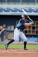 Tampa Bay Rays outfielder Thomas Milone (27) during an Instructional League game against the Minnesota Twins on September 16, 2014 at Charlotte Sports Park in Port Charlotte, Florida.  (Mike Janes/Four Seam Images)