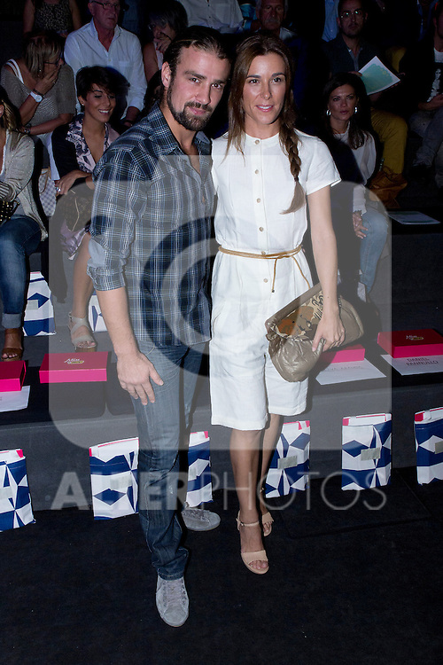 02.09.2012. Celebrities attending the Ion Fiz and Maya Hasen fashion shows during the Mercedes-Benz Fashion Week Madrid Spring/Summer 2013 at Ifema. In the image Raquel Sanchez Silva and Mario Biondo (Alterphotos/Marta Gonzalez)