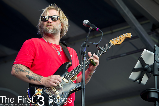 Anders Osborne performs during the New Orleans Jazz & Heritage Festival in New Orleans, LA.