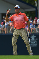 Stewart Cink (USA) after sinking his putt on 9 during 4th round of the 100th PGA Championship at Bellerive Country Club, St. Louis, Missouri. 8/12/2018.<br /> Picture: Golffile | Ken Murray<br /> <br /> All photo usage must carry mandatory copyright credit (&copy; Golffile | Ken Murray)