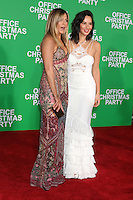 "Jennifer Aniston, Olivia Munn<br /> at the ""Office Christmas Party"" Premiere, Village Theater, Westwood, CA 12-07-16<br /> David Edwards/DailyCeleb.com 818-249-4998"